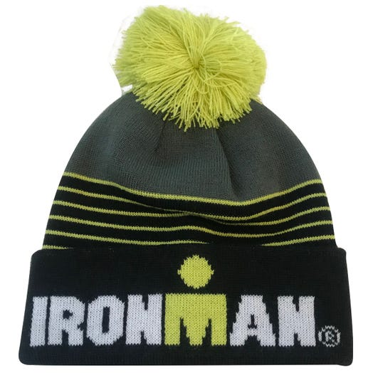 IRONMAN POM POM BEANIE BLACK/LIME