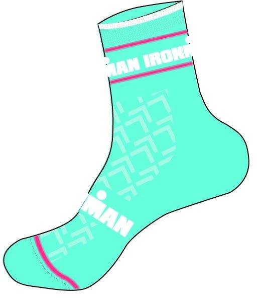 IRONMAN Cycle Sock - Aqua - Medium