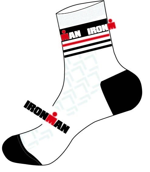 IRONMAN Cycle Sock - White - Large