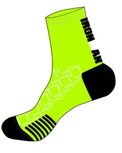 IRONMAN RPM Cycle Sock - Black/Lime
