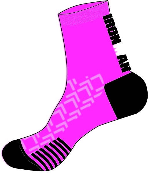 IRONMAN Cycle Sock - Pink-Medium