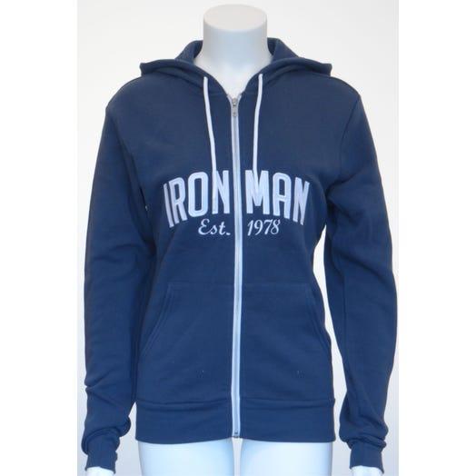 IRONMAN Vintage Full Zip Men's  Hoodie - navy