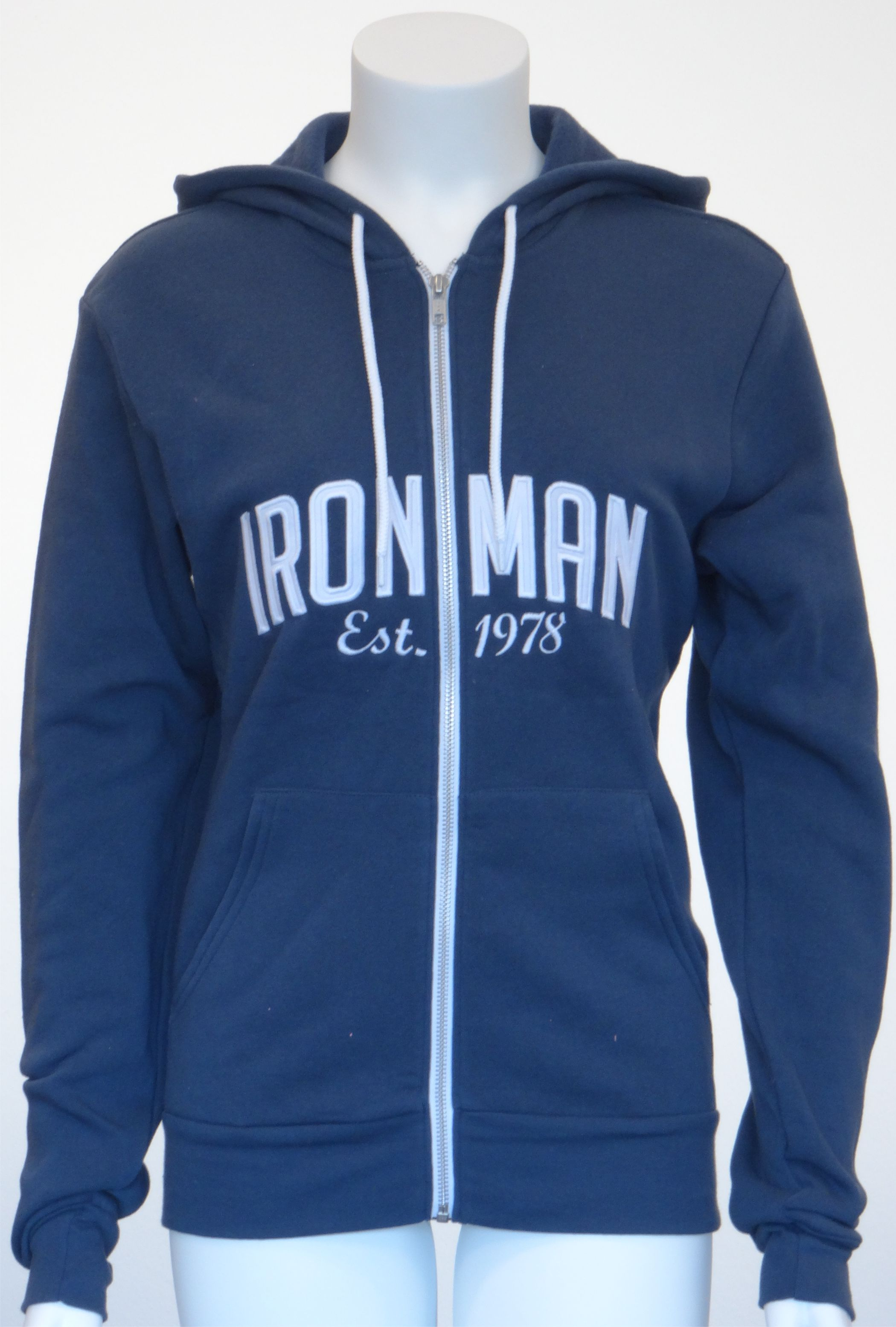 IRONMAN Vintage Full Zip Men's  Hoodie - navy