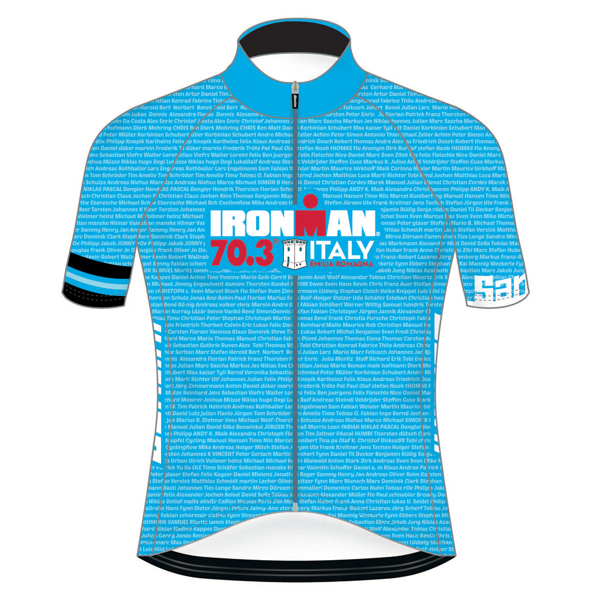 IRONMAN 70.3 ITALY EMILIA-ROMAGNA 2019 MEN'S NAME CYCLE JERSEY