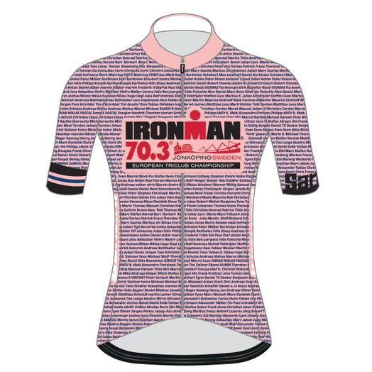 IRONMAN 70.3 JONKOPING 2019 WOMEN'S NAME CYCLE JERSEY