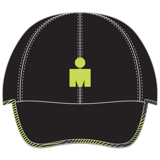 IRONMAN MDOT Elite Tech Hat-Black/Lime