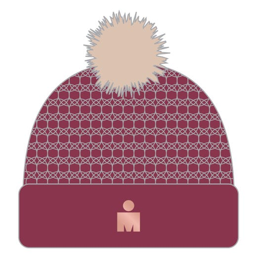 IRONMAN M-DOT FAUX FUR POM BEANIE