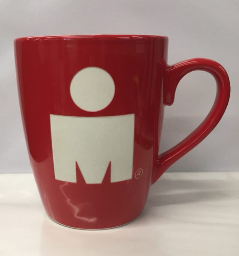 IRONMAN Etched Red Cafe Mug