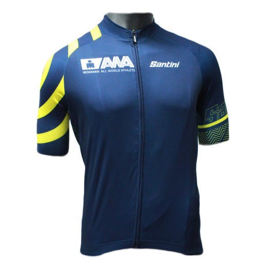 IRONMAN SANTINI MEN'S GOLD ALL WORLD ATHLETE CYCLE JERSEY