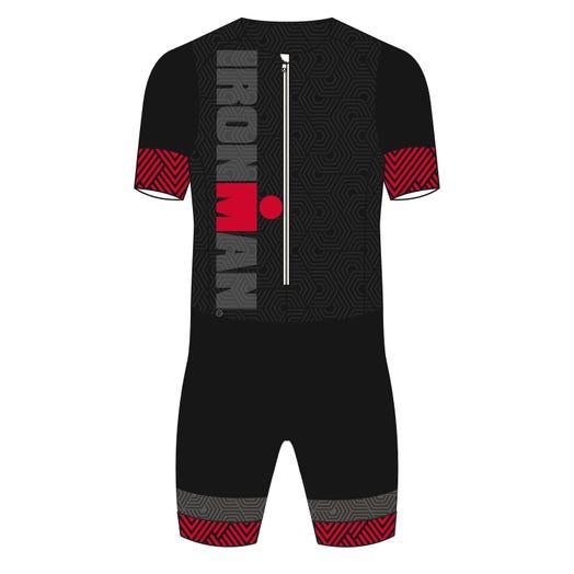 IRONMAN Craft Men's Short Sleeve Tri Suit-Black/Red