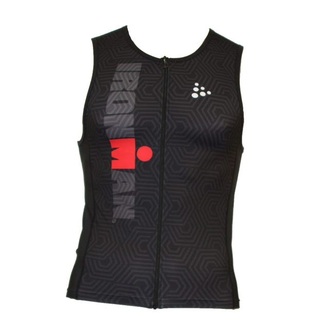 IRONMAN Craft Men's Tri Top- Black/Red