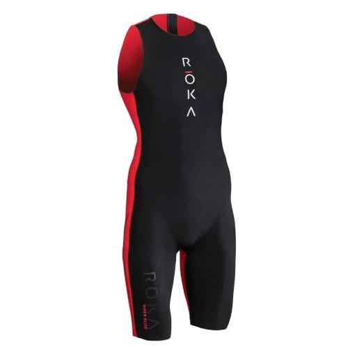 IRONMAN ROKA Men's Viper Elite Swimskin-Black/Red