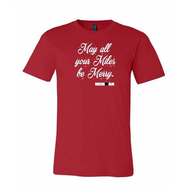 IRONMAN Men's Christmas Tee - Red