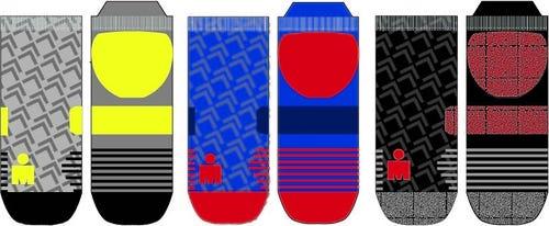 IRONMAN NO SHOW SOCK 3 PACK - Grey, Blue, Black - Large