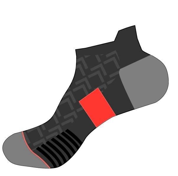 IRONMAN PR NO SHOW Run Sock - Hype Orange