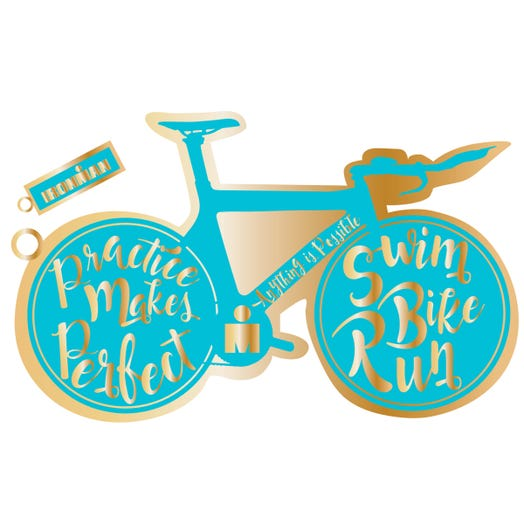 IRONMAN GOLD BIKE KEYCHAIN