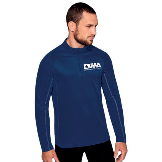 IRONMAN SANTINI MEN'S ALL WORLD ATHLETE HALF ZIP