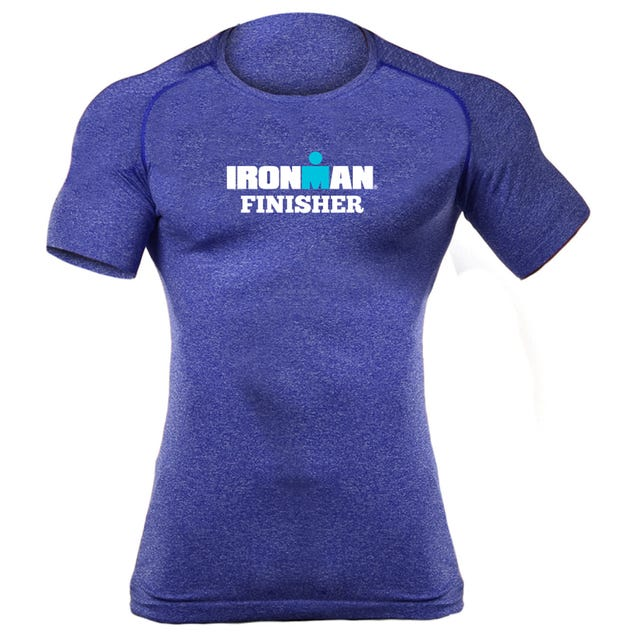 IRONMAN MEN'SCORE FINISHER BODY MAPPING SHORT SLEEVE TECH ROYAL