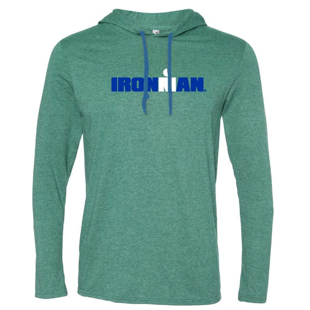 IRONMAN MEN'S SPELLOUT LONG SLEEVE TRIBLEND ALPINE