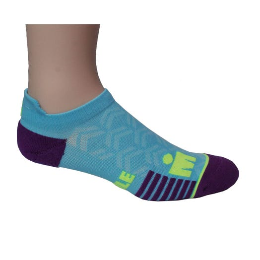IRONMAN No Show Sock - Stronger Every Mile Turquoise