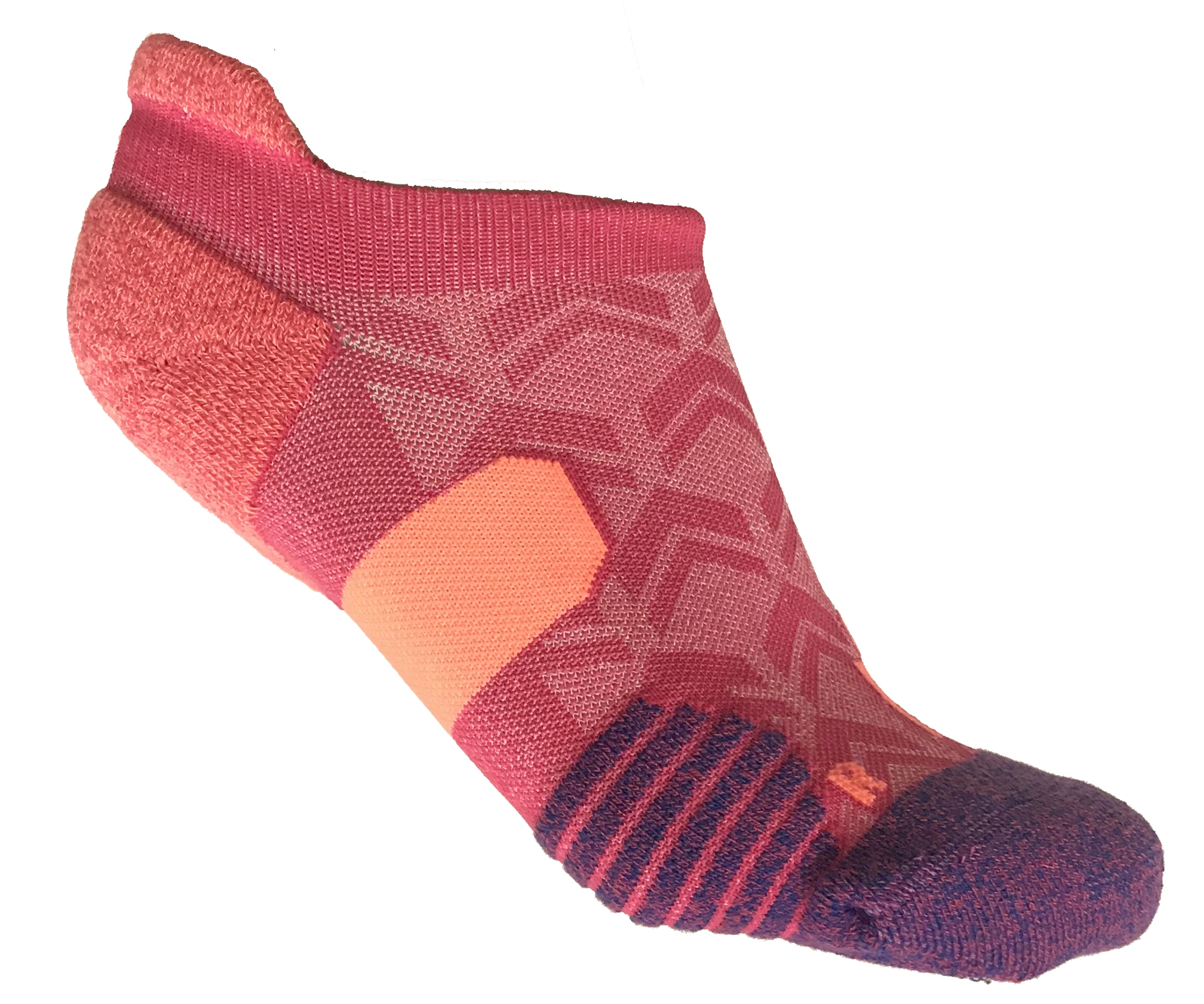 IRONMAN Motion No Show Sock - Pink
