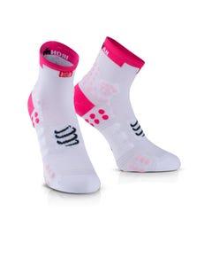 IRONMAN COMPRESSPORT Pro Racing Socks V3 Run High - Pink