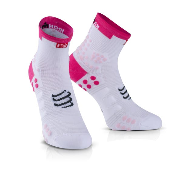 IRONMAN COMPRESSPORT Pro Racing Socks V3 Run High - Pink