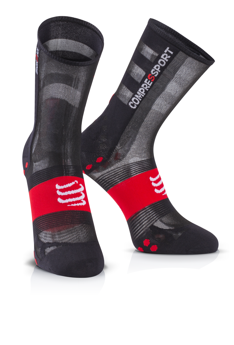 IRONMAN COMPRESSPORT Pro Racing Socks V3 Ultralight Bike - Black Red