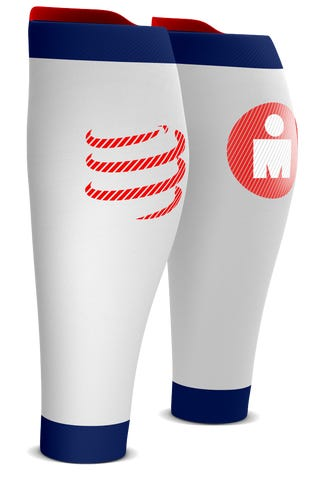 IRONMAN COMPRESSPORT R2 Calf Sleeves - White