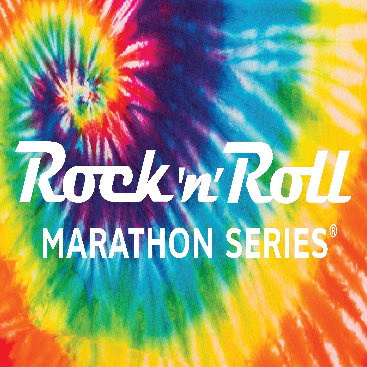 ROCK N ROLL MARATHON SERIES TIE DYE BEACH TOWEL