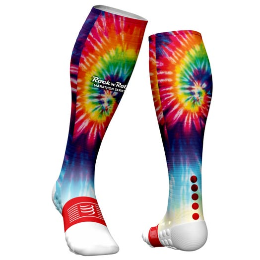 ROCK N ROLL MARATHON SERIES TIE DYE FULL SOCK