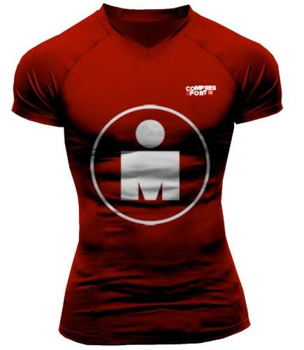 IRONMAN COMPRESSPORT Men's Smart Running Tee - MDOT Red