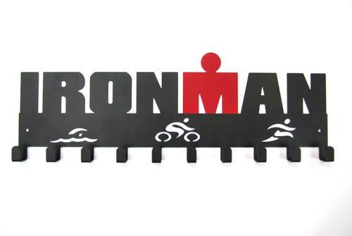 IRONMAN Swim Bike Run Medal Hanger - 10 Hooks