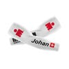 IRONMAN Custom Arm Sleeves with Nationality Flag - White