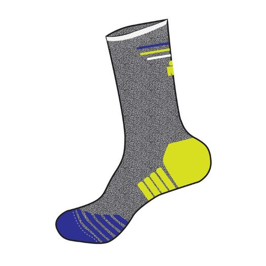 IRONMAN Run Sock - Heathered Grey - Large