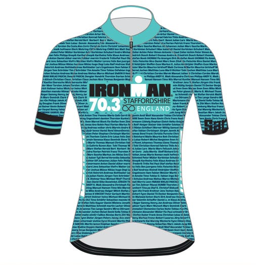 IRONMAN 70.3 STAFFORDSHIRE 2019 WOMEN'S NAME CYCLE JERSEY