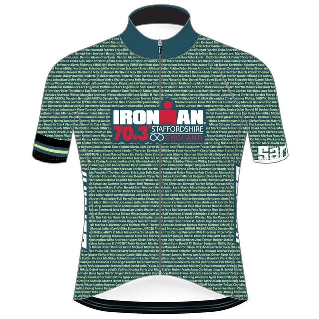 IRONMAN 70.3 STAFFORDSHIRE 2019 MEN'S NAME CYCLE JERSEY