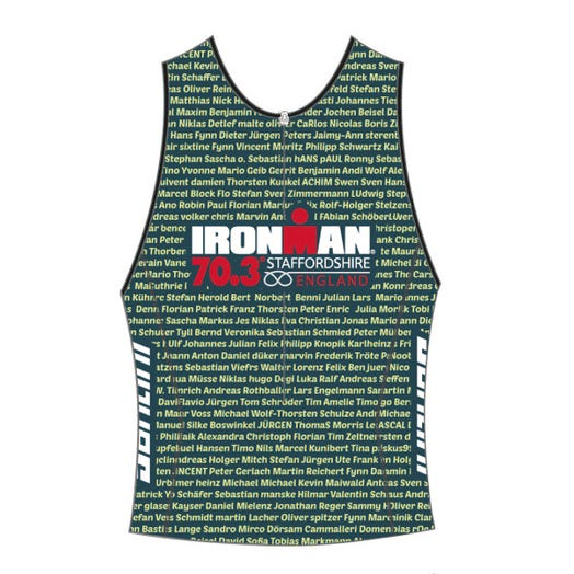 IRONMAN 70.3 STAFFORDSHIRE 2019 MEN'S NAME TRI TOP