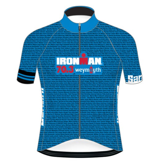 IRONMAN 70.3 WEYMOUTH 2019 MEN'S NAME CYCLE JERSEY