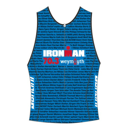 IRONMAN 70.3 WEYMOUTH 2019 MEN'S NAME TRI TOP