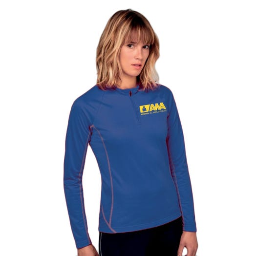IRONMAN SANTINI WOMEN'S GOLD ALL WORLD ATHLETE HALF ZIP