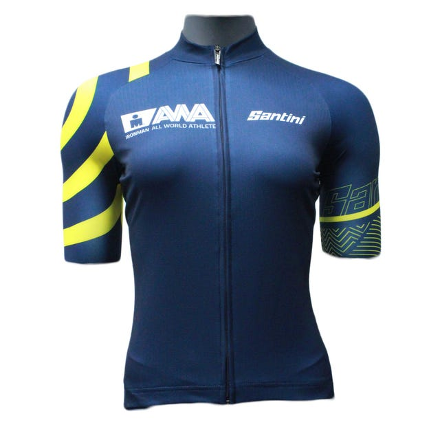 IRONMAN SANTINI WOMEN'S GOLD ALL WORLD ATHLETE CYCLE JERSEY