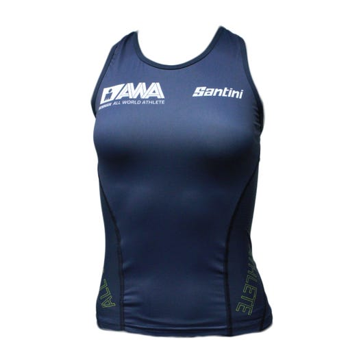 IRONMAN SANTINI WOMEN'S GOLD ALL WORLD ATHLETE TRI TOP