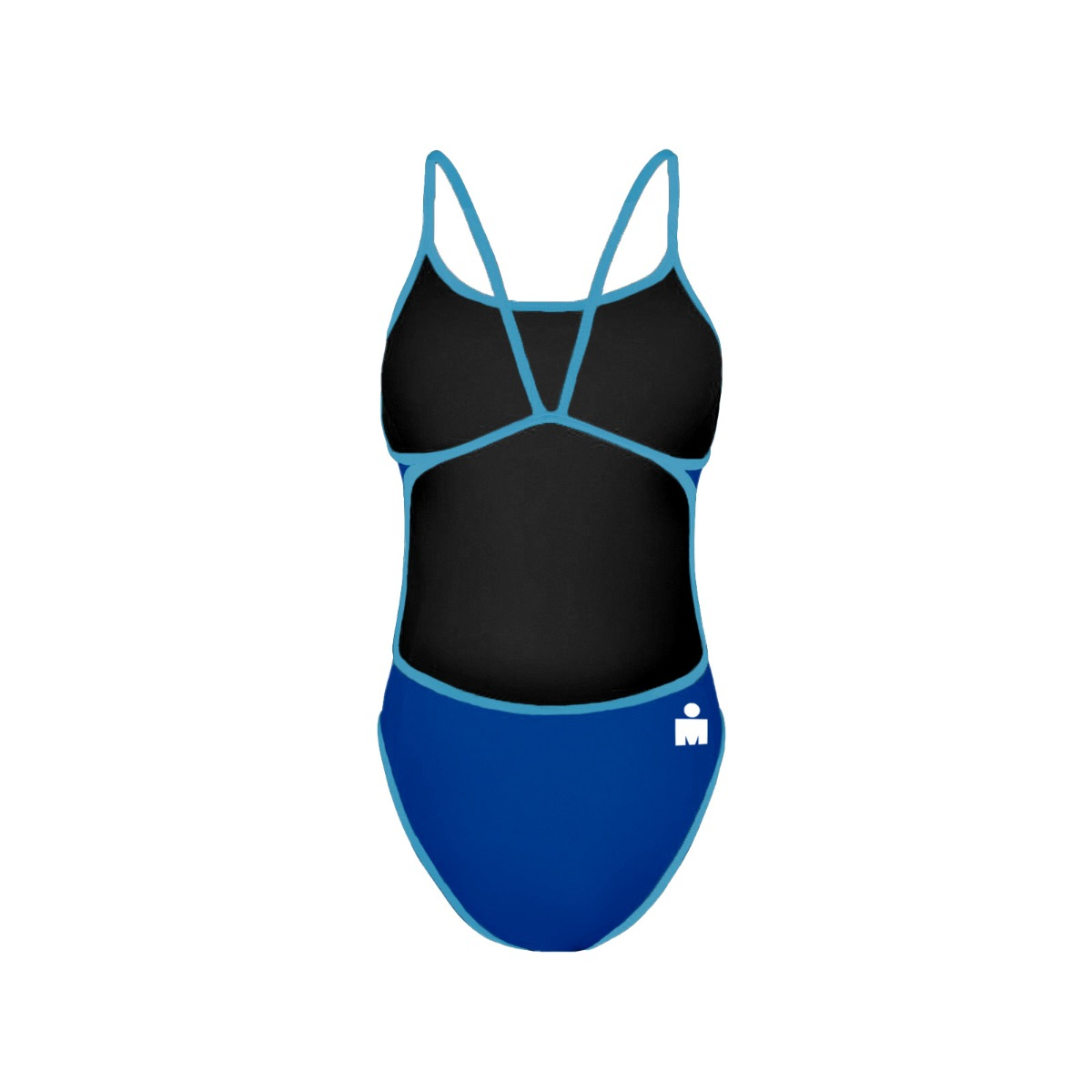 7ae8ac1607 IRONMAN ROKA Women's One-Piece Triangle Back Swimsuit - Royal/Turquoise