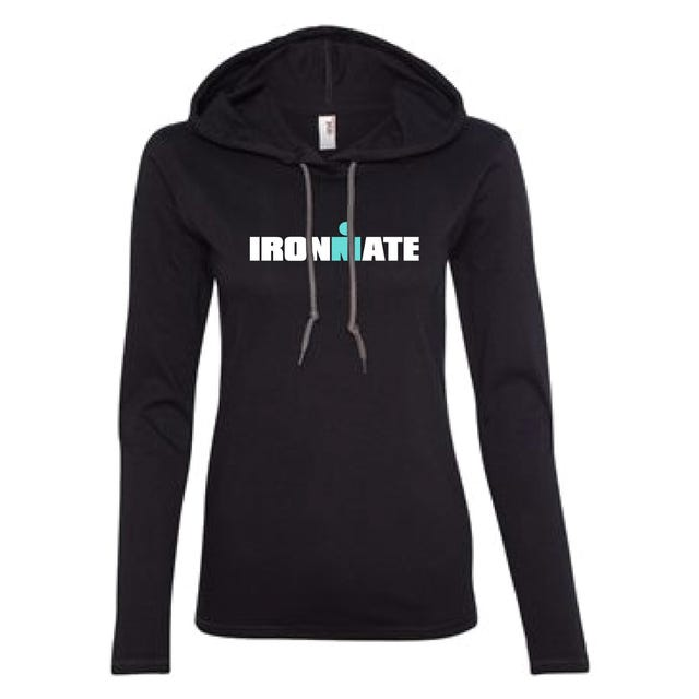 IRONMAN WOMEN'S IRONMATE LONG SLEEVE TRIBLEND NAVY